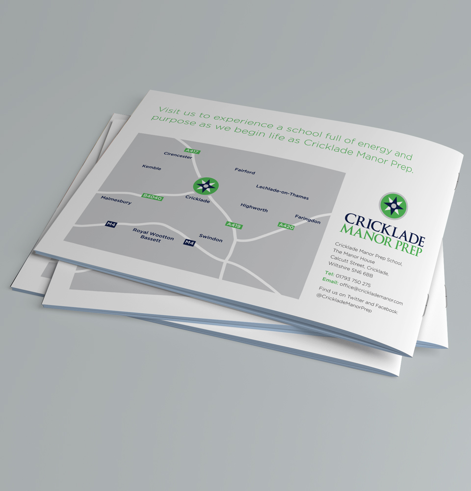 school brochure print design